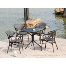 Мебель для патио в саду Великобритания Франция Бистро Алюминиевая мебель Bamboom Mesh Starbucks Ресторанные стулья