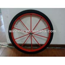 """26""""x 2.5"""" steel spoke rim heavy duty pneumatic wheels"""