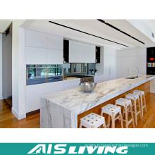 Armoires de cuisine en laque de style moderne avec marbre (AIS-K317)