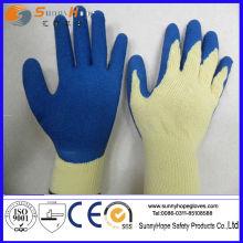 Crinkle finish latex trempé coton gants de travail