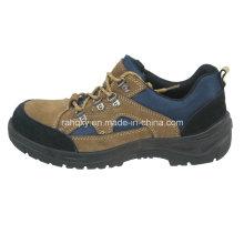 Preto e café sapatos de camurça superior de segurança (HQ01020)
