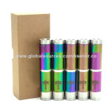 Nemesis e-cig mod clone in stainless/black/rainbow color