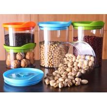 Оптовые продажи горячих пластиковые баночки с крышками для продуктов питания