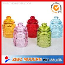 Mini verre Jar Petit pot en verre avec couvercle