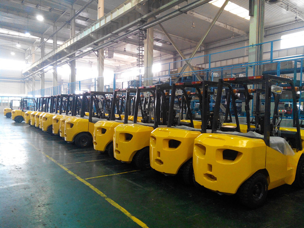 electric balanced forklift truck