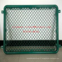 Panneau de clôture en diamant avec treillis métallique