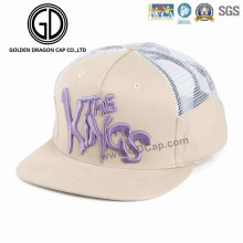 2016 Custom Adjustable Velcro Mesh Fashion Hat Snapback Sports Baseball Cap with Embroidery
