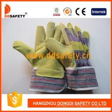 Parte posterior del algodón de la piel del cerdo para los guantes de trabajo generales DLP503