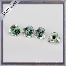 Excellent Green Glass and White Mixed Color Cubic Zirconia Gemstone