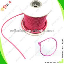 2mm colored hang tag with elastic loops/elastic loop for hang tag