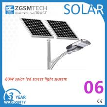 Lâmpada solar do diodo emissor de luz da fábrica 8m Pólo 80W de Zgsm 40W-120W exterior