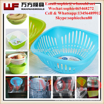 OEM Custom kitchen commodity vegetable Basket mould/Custom design plastic injection kitchen commodity vegetable Basket mold
