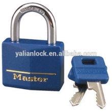 Profissional pesados latão bloqueio com tampa azul chave mestra sólido latão com chave igual cadeado