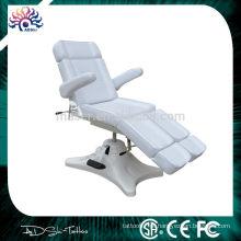 Alta qualidade dobrável cama branca massagem tatuagem e tatuagem cadeira, tatuagem mobiliário