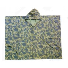 Yj-6011 Custom Hooded Camouflage Travel Bike Rain Poncho Mens