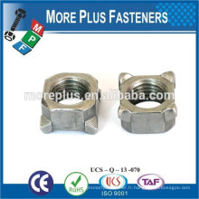 Fabriqué dans Taiwan Square Weld Nut Fine Thread Nuts and Bolts