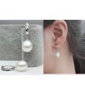 8-9mm blanco natural perla pendientes AAA blanco gota perla pendiente