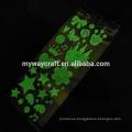 Custom glow in the dark sticker paper sticker luminous PVC sticker