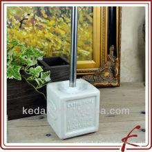 Mini suporte para escova de duche em grés quadrado