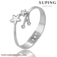 51526 moda estrela zircão cúbico jóias pulseira de aço inoxidável