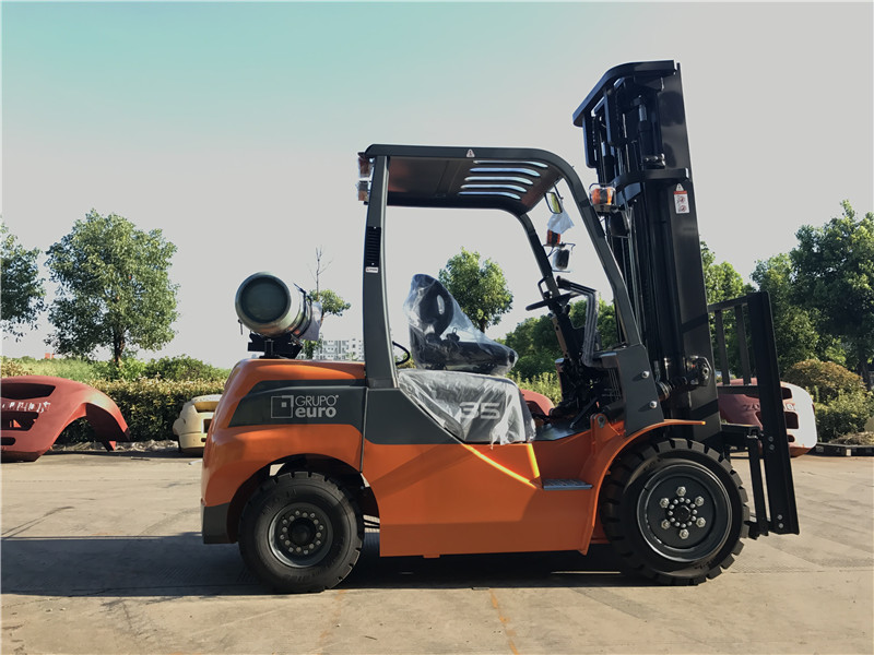 3.5ton gas forklift to Argentina from sheri01