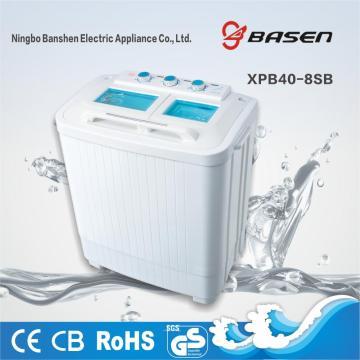 Halbautomatische Doppelwanne 4KG Waschmaschine und Trockner