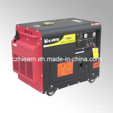 Preço silencioso do gerador diesel refrigerado a ar portátil 4kw (DG5500SE)