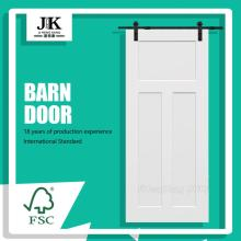 JHK-SK03-2 White Wooden Doors Antique Barn Door Bedroom
