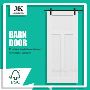 JHK-SK03-2 Painted Wooden Roller Barn Door
