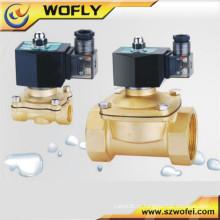 Válvula de solenóide de ar material de latão / aço inoxidável