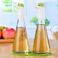 Bouteille en verre à pulvérisateur d'huile d'olive et de vinaigre avec contrôle de débit réglable pour cuisiner Cuisine