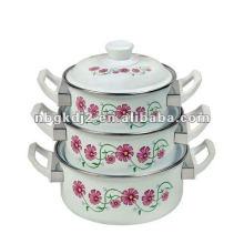 6pcs porcelain enamel casserole with bakelite handle