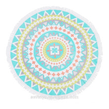Australia Popular Bright Color Mandala Round beach towel BT-540 China Supplier