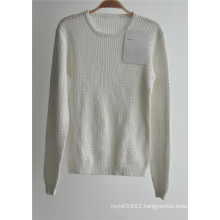 Ladies 100% Cotton Patterned Knit Pullover Sweater