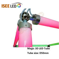 DMX 30mm Diameter 3D Effect LED Tube Light