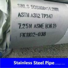 Tubo / tubo de acero inoxidable sin costura A312 de fábrica de China 304 316L