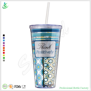 22oz Promocional Paper Insert Straw Tumbler Factory Direct (TB-A1-4)