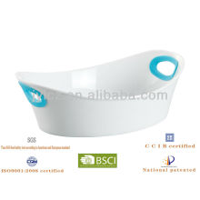 oval baker with silicone handles, ceramic baker