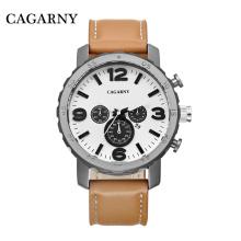 Мода многофункциональные наручные часы с большим циферблатом с 3eyes и Толкатели для мужчин