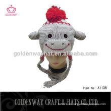 Sombrero hecho punto divertido del invierno del sombrero del bebé