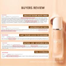 Daily Face Makeup Brightening Oil-control Long Lasting Waterproof Comestics OEM Matte Liquid Face Foundation
