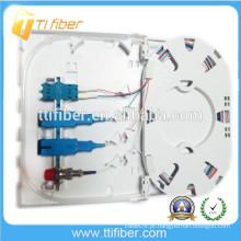 Caixa de Terminais de Fibra Óptica SC / LC / FC FTTH, Placa Frontal de Fibra Óptica de 4Port