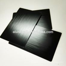 Painel acp composto de alumínio da escova preta para a placa traseira da tevê