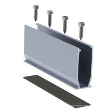 Rail de support de panneau solaire de toit en métal pour le système à la maison d'énergie solaire