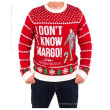 PK1877HX camisola de Natal feia unisex em vermelho eu não sei Margo