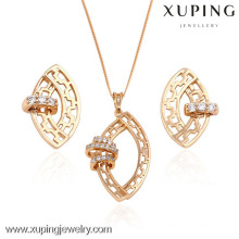 63398-Xuping Jewelry 2 piece Jewelry Set Wholesale with 18K Gold Plated