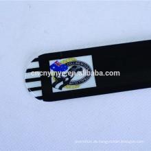 China Fabrik OEM Custom Promo Kinder PVC Schwarz schlagen Armband