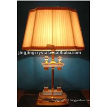 Lâmpada de mesa de cristal de bola clara clássica com sombra na China