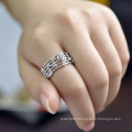 Top Quality Factory Price Characteristic music notation crystal ring in zinc