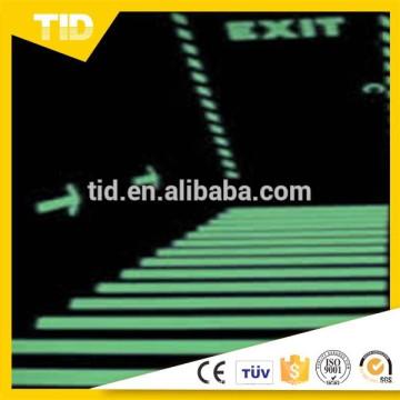 Etiqueta engomada luminescente de la película del vinilo luminoso del alto brillo